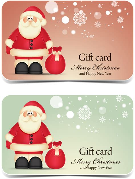 A Gift Card Santa - santa gift cards ai format free vector download vectorpage com