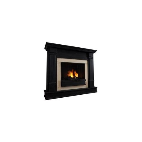 real silverton indoor gel fireplace in black finish