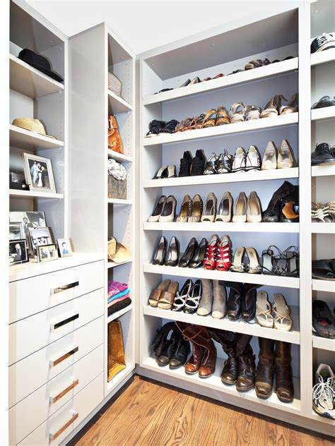 walk in closet shoe storage photos hgtv