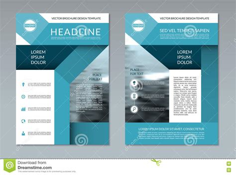brochure flyer layout template a4 size front and back