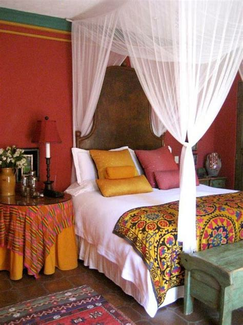 colorful bedroom curtains bohemian style bedroom ideas
