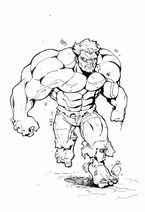 coloring pages hulk drawing drawing of the hulk coloring home