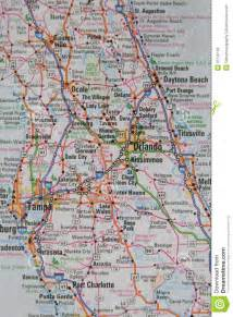 central map of towns map of the city of orlando and central florida royalty
