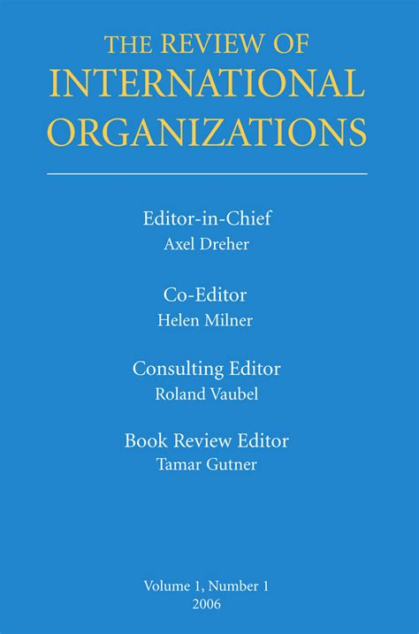 the intern review review of international organizations