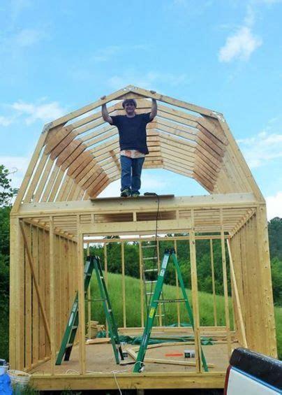 building  shed loft  easy shed  loft gambrel
