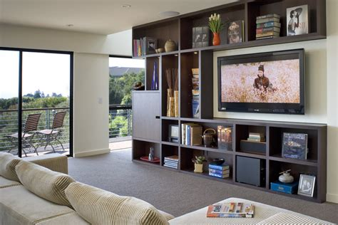 entertainment centers with bookshelves entertainment centers for flat screen tvs family room contemporary with balcony bookcase