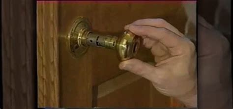 How To Replace A Front Door Knob by How To Fix A Broken Door Knob Handle 171 Construction