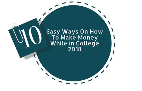 How To Make Easy Money Online For College Students - 10 easy ways on how to make money while in college 2018 trainingsadda