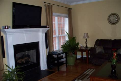 wall color behr expedition khaki color we chose for the fireplace room for the home