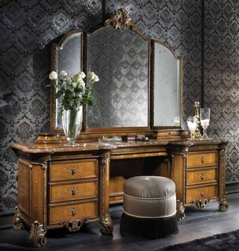 antique bedroom vanity with mirror bedroom luxury bedroom vanity with brown wooden materials