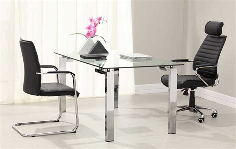 Contemporary Glass Desks For Home Office Home Office Desks Modern With Glass Top And Metal Legs Home Interior Exterior