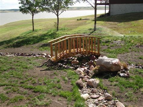 landscaping bridge diy small backyard bridges plans free