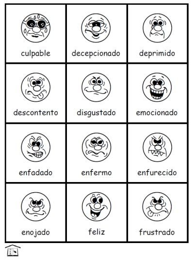 printable feelings flashcards for toddlers free sentimientos feelings in spanish activity set