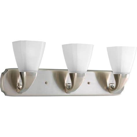 brushed nickel bathroom lighting fixtures progress lighting addison collection 3 light brushed
