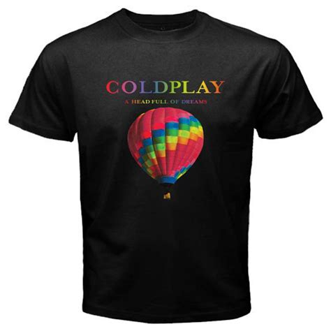 Tshirt Coldplay 21 coldplay a of dreams tour 2016 s black t shirt size s to 3xl ebay