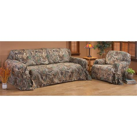 Camouflage Recliner Cover by Camo Sofa Covers Custom Creations Mossy Oak Slip Cover