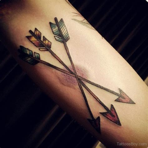 arrow tattoo on forearm arrow tattoos designs pictures