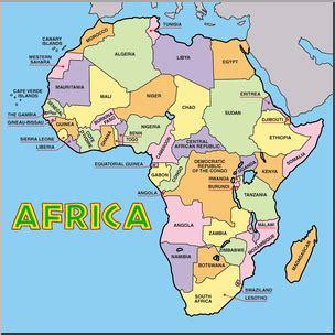 clip africa map color labeled i abcteach abcteach