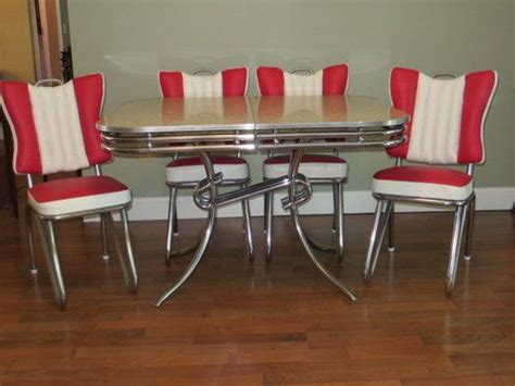 1950s formica kitchen table and chairs style ready to use 1950 s deco chrome formica
