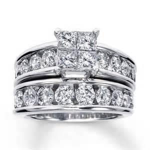 bridal sets bridal set 3 ct tw 14k white gold
