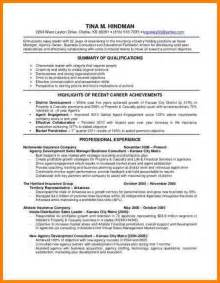 6 life insurance agent resume monthly bills template
