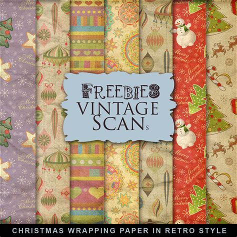 free printable vintage wrapping paper freebies christmas wrapping paper in retro style far far