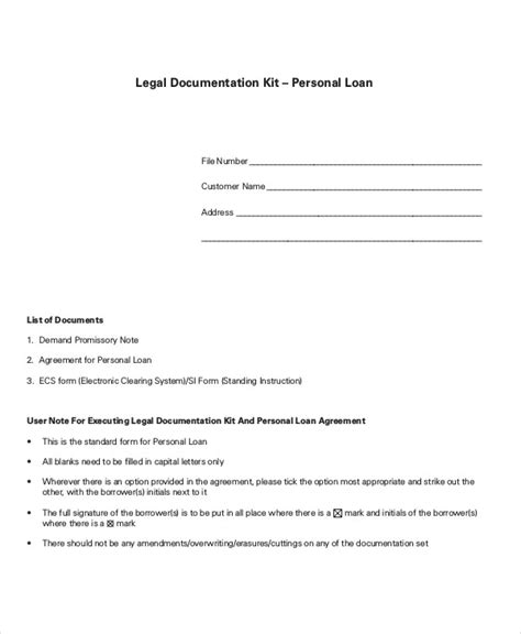 personal loan agreement contract template loan agreement template 14 free word pdf document