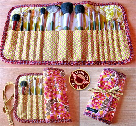 pattern for makeup brush holder quality sewing tutorials roll up makeup brush case