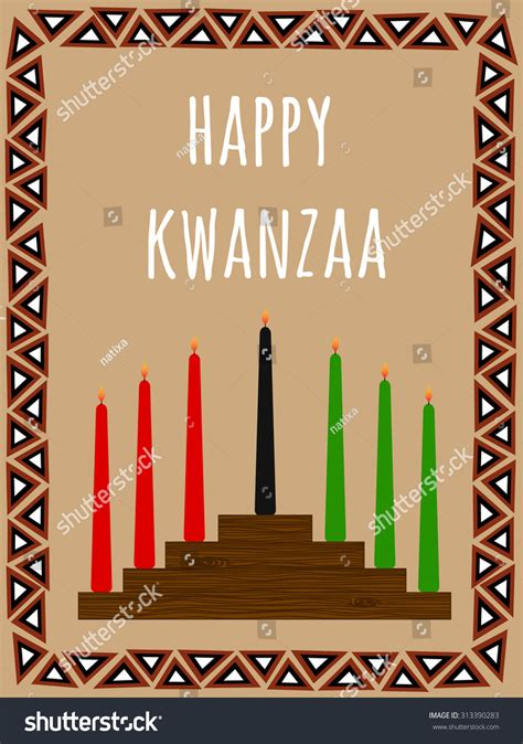 happy kwanzaa collage posters kwanzaa postcard seven candles candlestick african stock