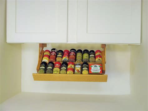 in drawer spice racks ideas for high comfortable cooking creative kitchen storage idea under cabinet spice rack