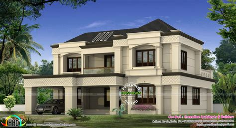 modern colonial modern colonial home kerala home design and floor plans