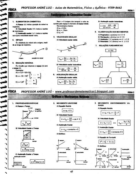 Fórmulas de física andré luiz