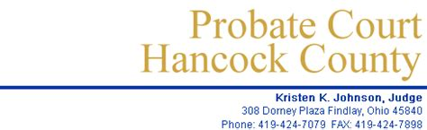 Hancock County Marriage Records Hancock County Probate Court 308 Dorney Plaza Findlay Ohio 45840