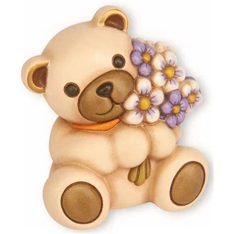 fiori thun teddy con mazzo di fiori