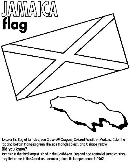 flag coloring pages crayola jamaica coloring page crayola com