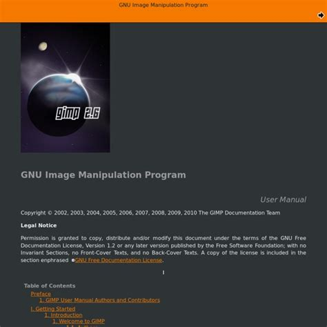 gnu image manipulation program gimp user manual pearltrees