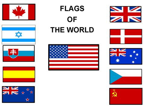 flags of the world red white blue flags and pennants