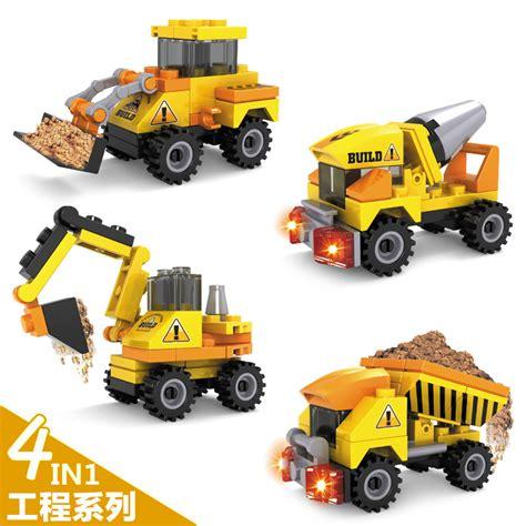 Mainan Die Cast Mini Contruction Car 4pcs toys construction trucks