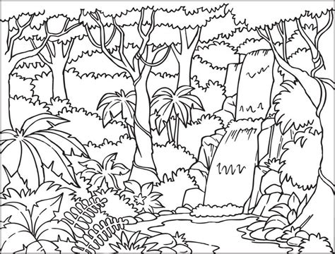 jungle landscape coloring pages free printable rainforest coloring pages az coloring