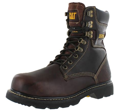 mens steel toed boots caterpillar cat s indiana 8 quot steel toe work boots