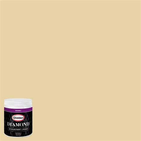 glidden 8 oz hdgy63u soft burnished gold eggshell interior paint with primer tester