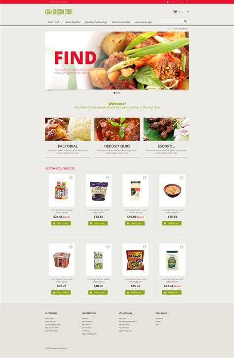 store html themes asian grocery store prestashop theme 48040