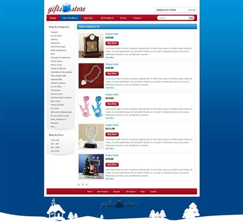 free templates for shopping website gifts shopping web template shopping cart website