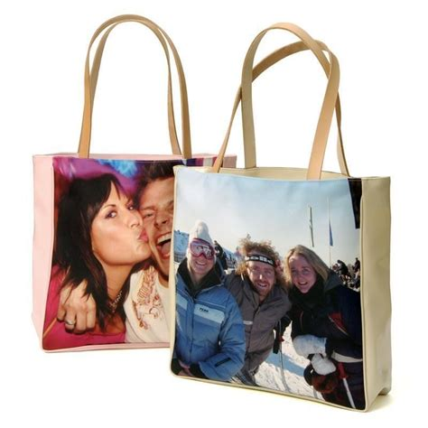 personalised shopping bags photo shopper bags by bags of love