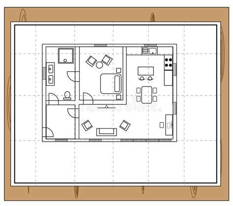 pianta della casa pianta della casa illustrazione vettoriale illustrazione