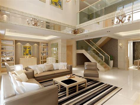 huge modern living  dining room decorat  model