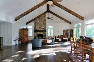 Plank amp beam ceiling traditional living room atlanta by renew