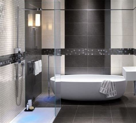 Modern Bathroom Tiling Ideas | grey shower tile images modern bathroom grey tile