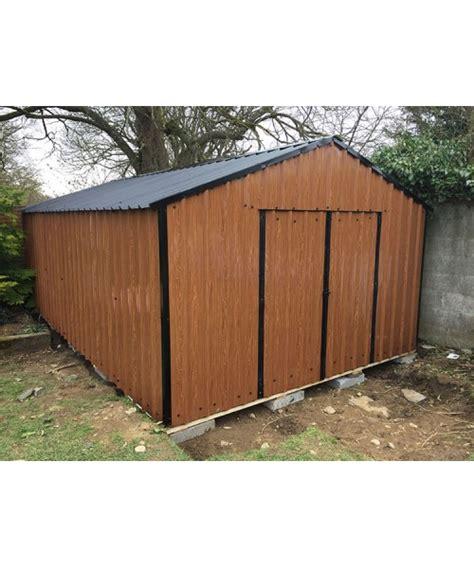 Garden Sheds Sale by 10ft X 20ft Wood Grain Steel Shed Garden Sheds For Sale