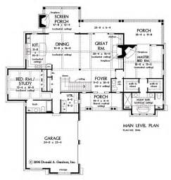 open floor plan home plans plan of the week one story hillside walkout